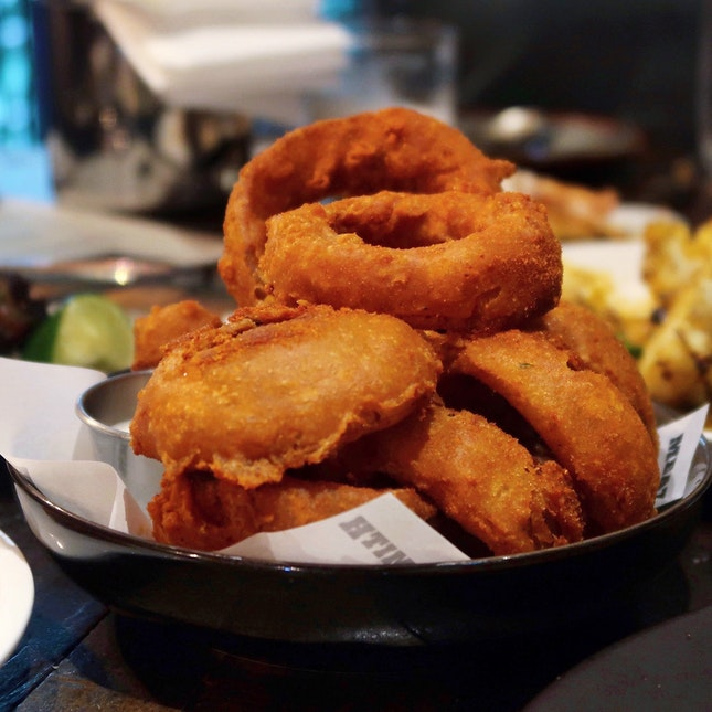 Bhaji Onion Rings [$9]