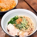 Prawn Dumpling with Chilli Vinaigrette Ramen 香辣鲜虾水饺拌面 [$12.50]