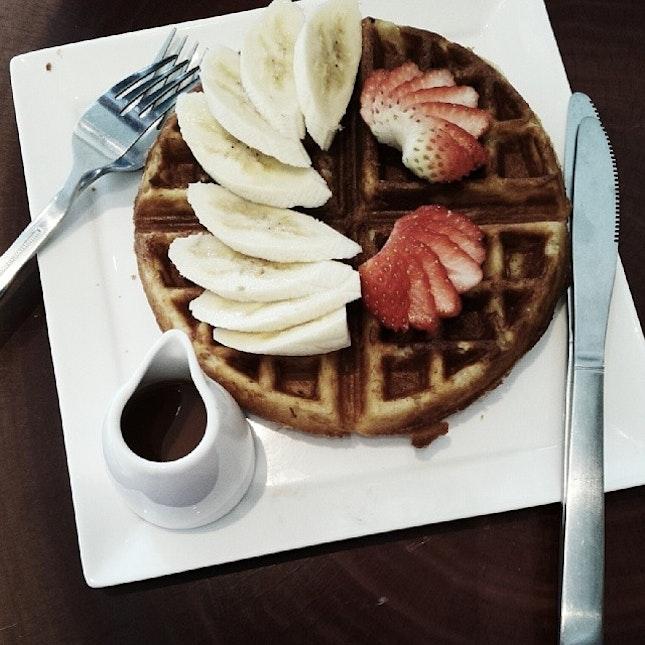 Chao dar waffles.