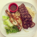 Steak & Prawn