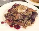 Sweet French Toast - their awesome french toast slices with berry compote and mascarpone.
