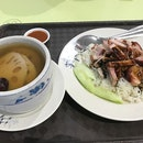 Char Siew Roast Pork Rice 叉烧烧肉饭 for $3 and Lotus Root Pork Rib Soup 莲藕排骨汤 for $2.50 - figured that since I took the time to queue for this, I should just get the soup as well.