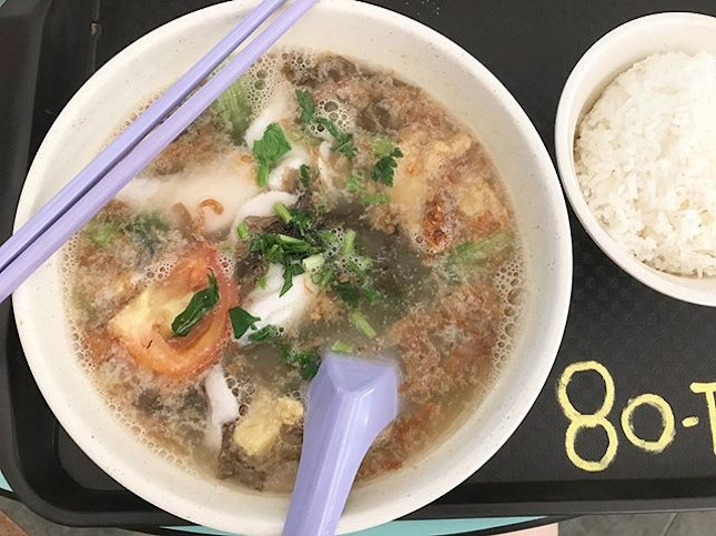 This fish soup stall at Ghim Moh is so good.