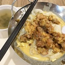 Salted Egg Chicken Hor Fun: the go-to comfort food at the food court when Ya Fu Mini Wok is around 😊 .