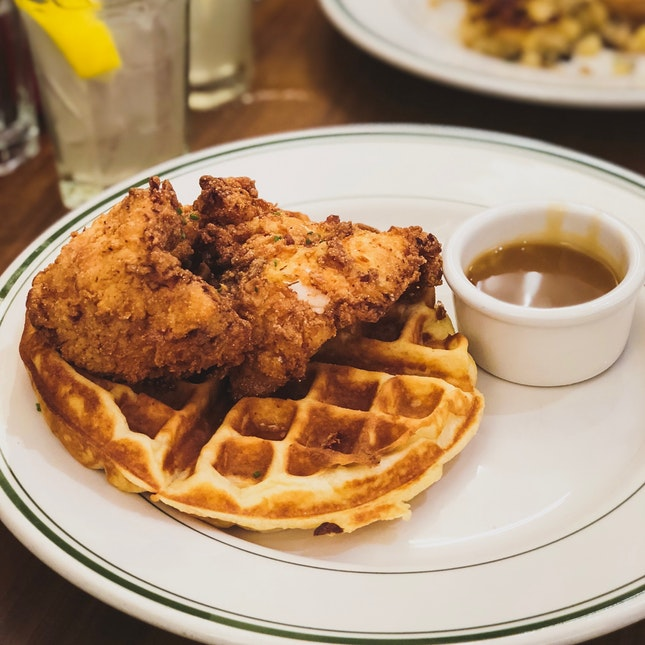 Buttermilk Fried Chicken With Waffles