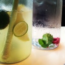 Refreshing spritzers for a warm evening.