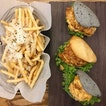 Bao dines at Bao Makers 😃  From the top: salted egg chicken, chilli crab, salted egg prawn (each for $5.80) + you get to order the truffle fries at $5 with minimum order of 2 baos.