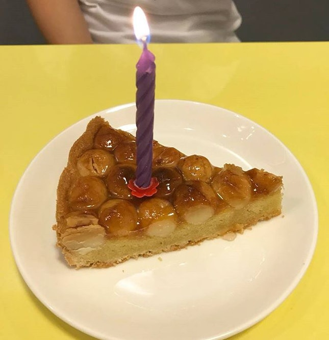 Birthday cake (or rather pie/tart, since I dislike cream cakes) part 2.