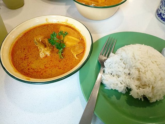 Curry chicken soup with rice!