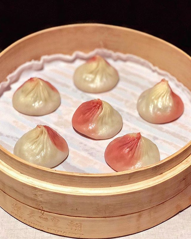 Beauty Collagen Xiao Long Bao Only with every order of the Specialty Dynasty 8-colour Xiaolongbao, you get to enjoy these pretty ones bursting with the signature collagen broth from Beauty in a pot.