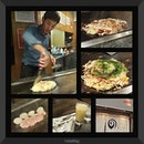Okonomiyaki lunch at Dotonbori.