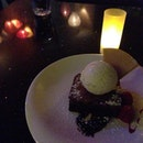 Brownie & Vanilla ice cream..