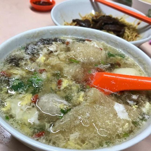 Fish Maw Soup with Bak Chor Mee.