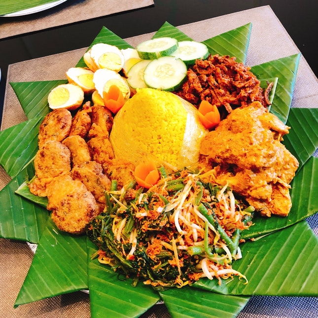 Home-cooked Nasi Tumpeng