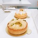 Pistachio & Passionfruit Meringue Tarts