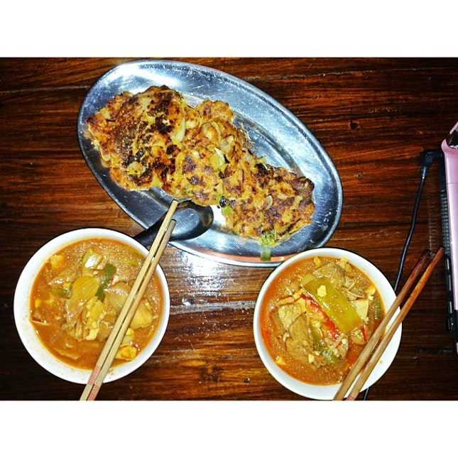 #foodporn cooked #yukgaejang and #kimchijeon yum yum