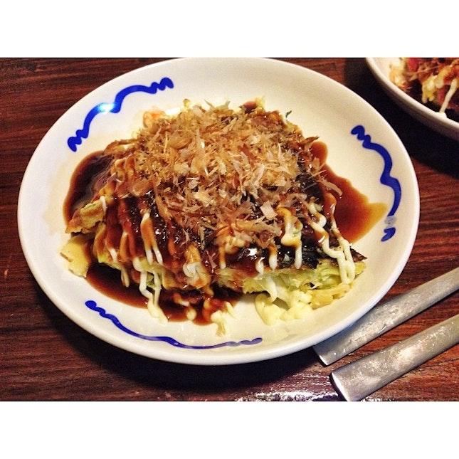 #Okonomiyaki #foodporn 2nd year anniversary dinner with @silasdluffy who made me grumpy