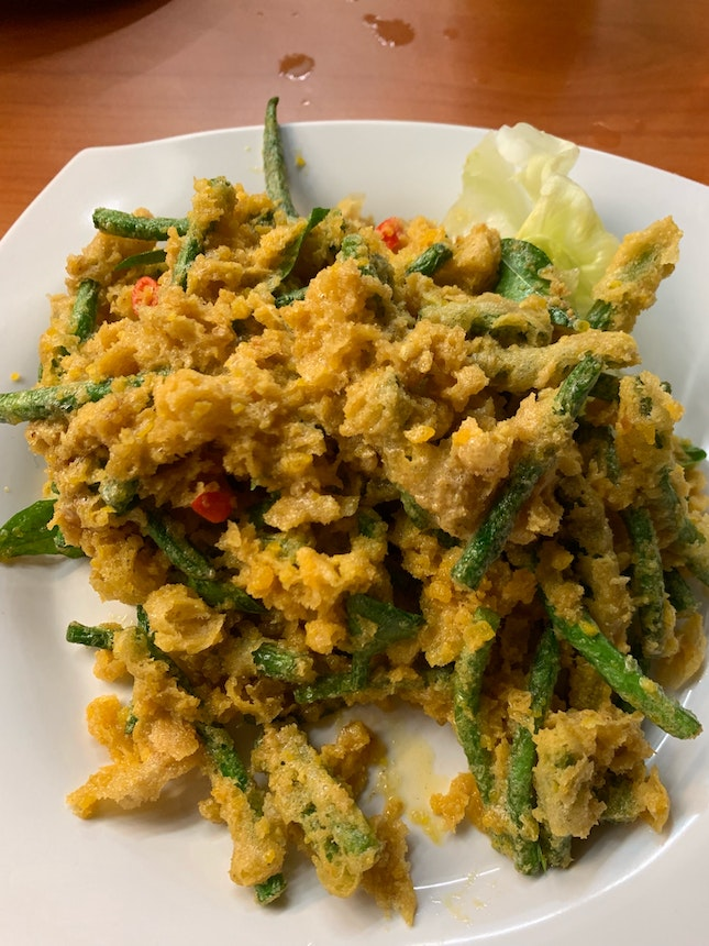 Salted Egg French Beans