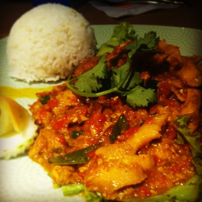 Spicy chicken yo with friends from NUS! Nom. #food