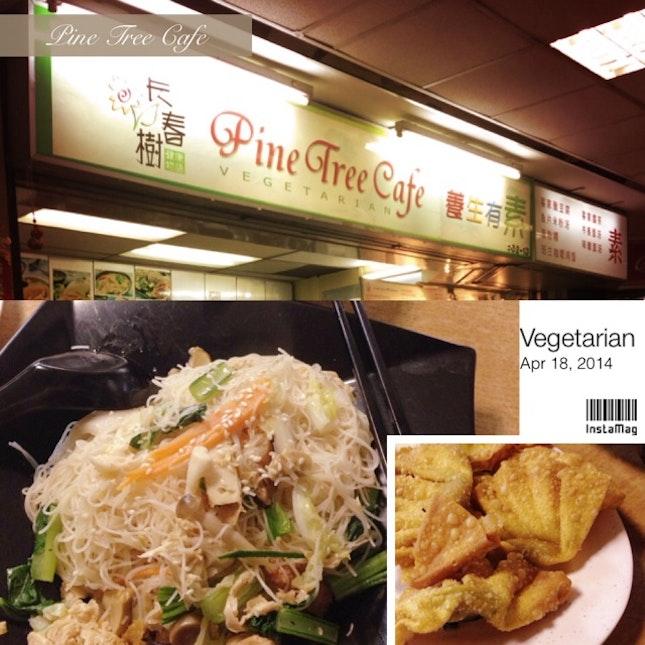 Vegetarian - Fried Bee Hoon & Wanton
