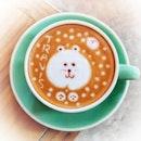 The coffee art is so CUTE!
