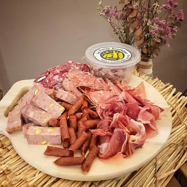 Cold Cuts Platter by @la_petite_boutique_sg I love the Truffle Salami the most!