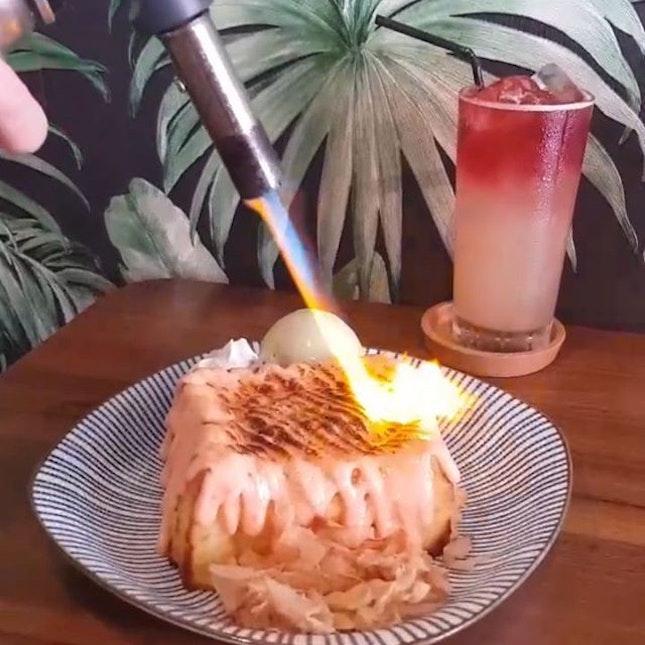 [The Otter's Toast] Mentaiko Lava Toast with Pistachio Ice cream from @theotterstoast The ice cream was very Creamy.