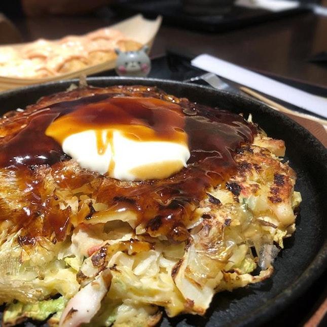 Okonomiyaki and mentaiko takoyaki!