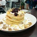 Blueberry ricotta pancakes from Roast (Bangkok, Thailand)!