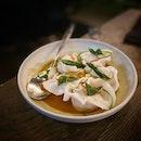 Chicken & prawn laksa dumplings!