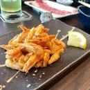 Crispy ebi that would go so well with a pint!