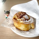 Cinnamon walnut roll - warm and fresh from the oven!