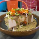 Cold tofu with century egg and a generous serving of fish roe ❤️ .
