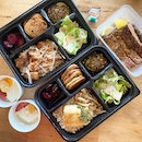 Braised pork belly & goma crusted snapper bentos!