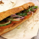 And we have got the one foot long teriyaki subway at its promotion!