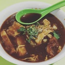"The bowl of Lor Mee tastes a tad different now however the pork belly still have the ""lor"" traditional taste ."