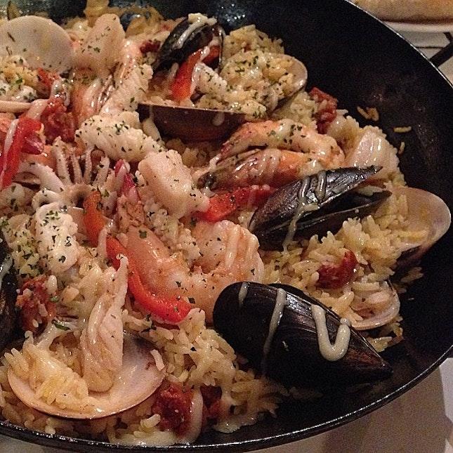 Seafood Saffron Rice @ Alice's Rustic Seafood, Qiss Mall, Rama 4