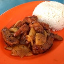 Mongolian Pork w Rice ($5.00)