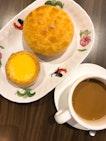 Crispy Pineapple Bun, Egg Tart & Yuanyang.