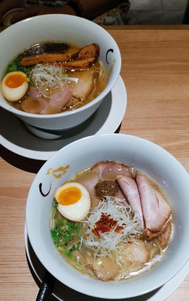 Shio & Shoyu Hamaguri Soup Ramen ($14.90)