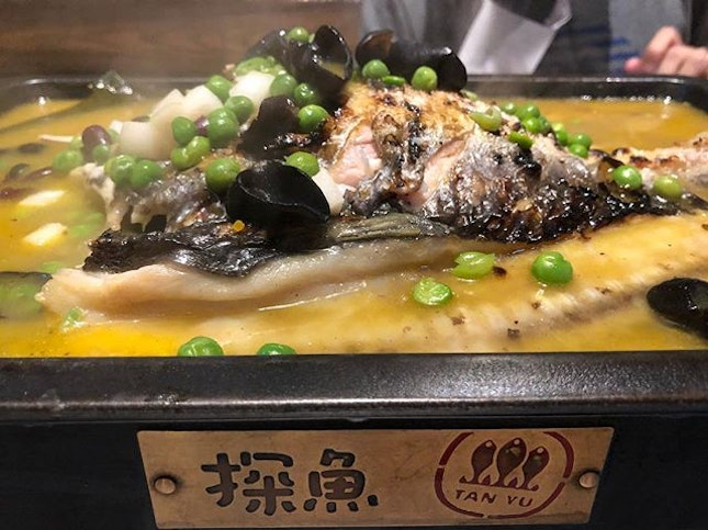 #TanYu #grilledfish in #herbalsoup is really good!