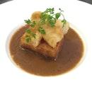 tofu with black truffle sauce