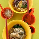 dumpling noodles ($3.50) + signature noodles ($4)