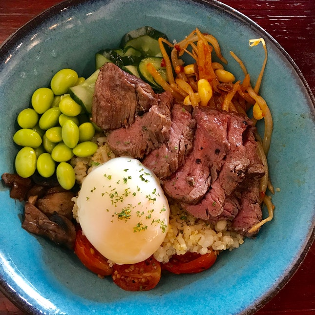 Wagyu Beef Grain bowl ($20)