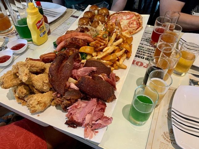 Beerfest yummy platter ($98) x beer tasting ($28)