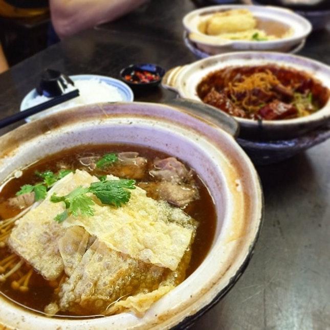 New Soon Huat Bak Kut Teh (pork rib soup) for dinner was fantastic.