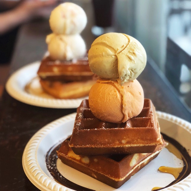 Waffles & Ice Cream