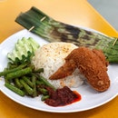 Nasi Lemak ($5.20 - Price Varies Depending on Items Ordered)