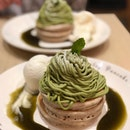 @kyushupancake.sg has been on our makan list ever since we saw them on @burpplebeyondfans, and we managed to redeem the 1-for-1 Matcha Montblanc Pancake deal here before its expiry today.