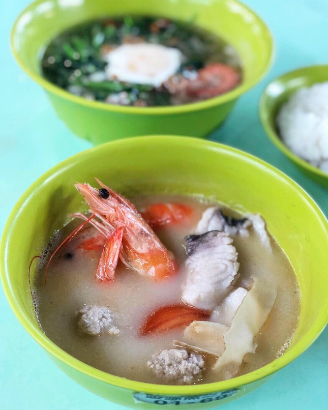 Herbal Seafood Soup ($5/ $6/ $7/ $10)